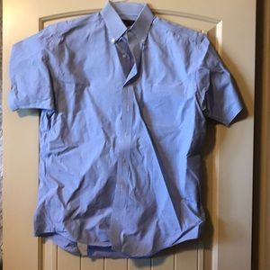 Harold Powell blue and white button shirt size M